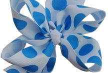 Polka Dot Hairbows / Hair bows Made with Polka Dot Ribbon / by Hairbows.com