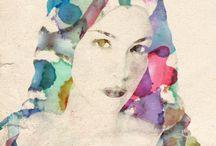 Paper, pen & colour