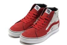 Vans Men & Women x Supreme Sk8-Hi Shoes Red/Off White