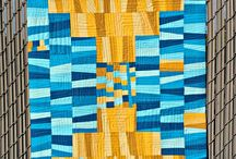 Solid Quilts / Modern quilts made with solid fabrics. / by A Quilter's Table