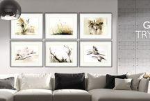 Tryptyki / Triptychs / Nowoczesne obrazy do salonu. Unique paintings. Unikatowe zdobienia obrazów do sypialni i jadalni.