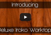 Iroko Worktops / One of our most popular timbers: naturally hygienic, hard-wearing, and beautiful to look at.