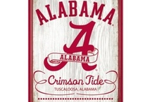 Alabama Crimson Roll Tide / by Kelly Champagne