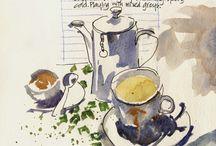 ilustración comida