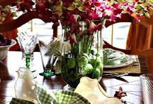 adornos florales, mesas,vajillas...
