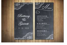 Wedding / Mariages : menus