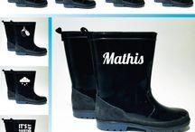 autocollants bottes de pluie