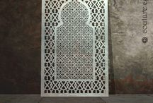 Moroccan laser cut screens