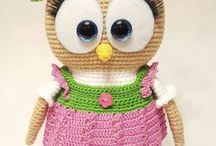 Cute owl in dress