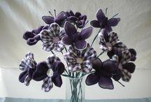 Bouquets en tissu / Bouquets de fleurs en tissu