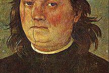 Perugino / Pietro di Cristoforo Vannucci, noto come il Perugino o come Pietro Perugino (Città della Pieve, 1448 circa – Fontignano, 1523), pittore italiano.