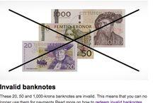 Billets Suède / Les billets de banque Suède en circulation sont : 20, 50, 100, 200, 500, 1000 SEK. En 2015, 2016, la Suède se dote de nouveaux billets et nous aurons également une nouvelle coupure de 200. Attention sur les dates de suppression des anciens billets! (le 30 juin 2016 pour les anciens billets de 20, 50 et 1000, le 30 juin 2017 pour les anciens billet de 100 et 500)