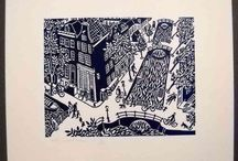 Linocuts - Eddy Varekamp / Linocuts made by Eddy Varekamp