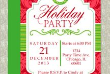 Christmas Invitation Templates and More / Printable and editable Microsoft Word invitation templates and party decor