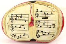Music - painted rocks