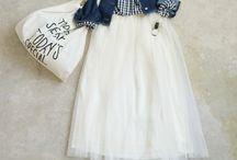 白いスカート(春)