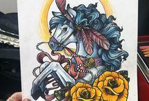Tattoos n stuff.
