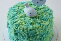 Whale cake theme