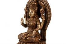 Shri Lakshmi Statues / Lakshmi is the Hindu goddess of wealth, fortune, and prosperity