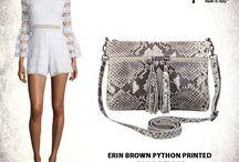 Erin snake effect Italian leather shoulder bag