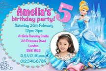 Cinderella Birthday Party Invitations / Disney Cinderella Birthday Party Invitations and thank you cards