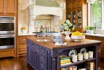 KITCHENS THE HEART OF THE HOME / BLESSED WITH ABUNDANCE EACH DAY ALL OUR OWN: THERE'S LOVE IN THE KITCHEN, THE HEART OF THE HOME.