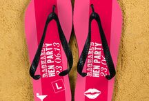 Hen party personalised flip flops! / Stand out from the crowd in these fantastic Hen Party flip flops!