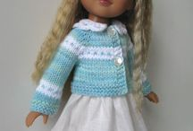 """13"""" - 14"""" slim bodied dolls / ALL MY WORK ; knitted outfits for dolls like Effner's Little Darlings, Kish and H4H"""