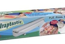 Hampton Direct 40269 Wraptastic Dispenser /  Wraptastic, as seen on TV, wraps food in a flash, simply load plastic wrap, wax paper or foil then pull, press, wrap!
