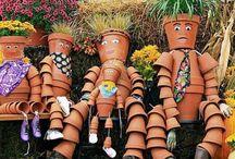 Decoration of flower pots / Dekorace z květináčů