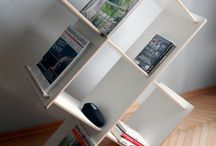 Modular bookcases MADEasy / Modular bookcase from the collection MADEasy designed and produced by KONZEPT HOME. Only 8 parts that will allow for the preparation of different variants of the rack depending on the needs and character of the interior. A simple way to connect and uniqueness of plywood give an amazing effect. Dynamic form and the possibility of changes in final form makes the racks you never get bored - it's not just a functional piece of furniture but also a unique decoration.