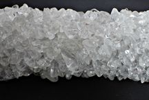 Crystal beads for jewellery making / This gemstone is pure quartz also known as rock crystal or clear quartz.