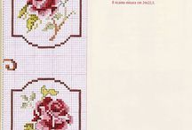 cross stitch rose and flowers