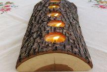 mezzo tronco +candele