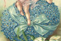 Cartes anciennes Ange Pâques