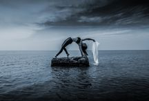 Namaste Yogini Yoga on the rocks