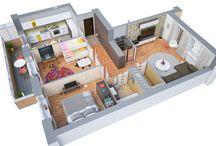 House Plans / Plantas de Casas
