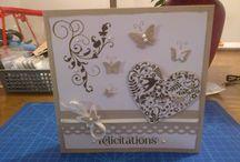 Cartes scrap / Carte félicitations mariage