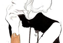 High Street / Watercolour Fashion Illustrations. Moodboard + Style Guide.