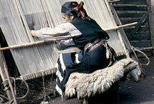 mapuche tejiendo