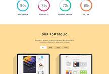 Single-page portfolio