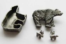 Pewter jewellery / Pewter jewellery for that metallic grey look. Antique vintage and modern pieces.