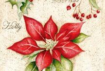 Holiday Decoupage Napkins / Quality paper napkins for decoupage.