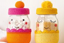 crochet jar cover