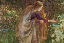 Pre Raphaelite Paintings / The Pre-Raphaelite Brotherhood began in 1848 as a secret group of artists: Dante Gabriel Rossetti, William Michael Rossetti (his brother), Thomas Woolner, William Holman Hunt, Frederic George Stephens, James Collinson, and John Everett Millais. They were revolting against the current art establishment, mainly the British Royal Academy and their formulaic approach to art instruction