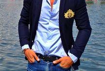 blazer azules hombre