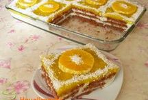 portakallı bisküvili pasta