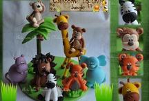 animais em biscuit