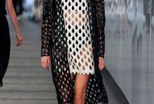 Trend Watch: Mesh Inspirations / Mesh is super on-trend for spring and summer fashions. Inspire your knit and crochet-wear!!