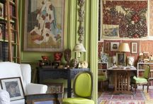 Vintage colourful rooms